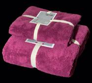 """Подарочный набор из двух махровых полотенец (баня и лицо)""""Цикламен"""""""