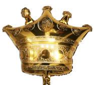 Фольгированный шар Корона золотая 75х70 см (Китай) в упаковке
