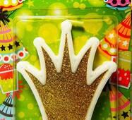 Свічка для торта Корона золота