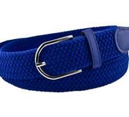Женский плетеный  ремень резинка NA 3.5 см для джинсов синий-электрик 65-135 см  (NA14235)
