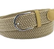 Женский плетеный  ремень резинка NA 3.5 см для джинсов бежевый 65-135 см  (NA14735)