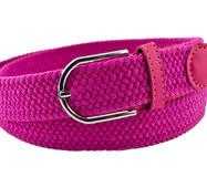 Жіночий плетений  ремінь гумка NA 3.5 см для джинсів рожевий 65-135 см   (NA13835)