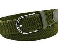 Жіночий плетений  ремінь гумка NA 3.5 см для джинсів хакі 65-135 см   (NA14435)