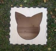 Будиночок лежанка для кішок з фанери
