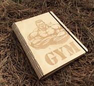 Стильний блокнот з дерев'яною обкладинкою Володар кілець king of the rings ач дерево