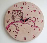 """Круглий концептуальний годинник з дерева """"Воно"""""""