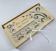 Коробочка - конверт для грошів (для вишивки бісером)