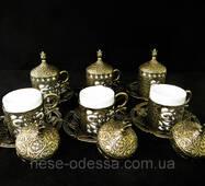 Турецкие чашки для кофе бронза