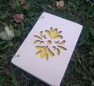"""Блокнот """"Квітковий орнамент"""" з дерева"""
