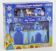 Замок для ляльки музичний, зі світлом. Ляльковий замок