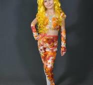 Костюм Золотая Рыбка для девочки 5, 6, 7, 8, 9, 10, 11 лет. Детский карнавальный маскарадный костюм