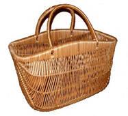 "Плетена сумка кошик ""з горбком"""