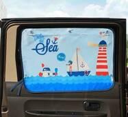 Солнцезащитная шторка-органайзер на окно автомобиля детская org4447