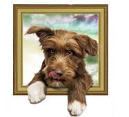 "Интерьерная вінілова 3d наклейка на стіну ""Собачка"""
