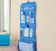 Дорожній органайзер для речей для ванни підвісної блакитної