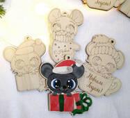 Мишка-розфарбовування на ялинку з дерева