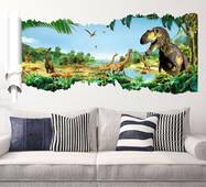 """Вінілова наклейка на стіну в дитячу """"Динозаври"""""""