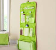 Дорожній органайзер для речей для ванни підвісний зелений