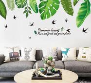 """Интерьерная вінілова наклейка на стіну """"Пальмове листя"""""""