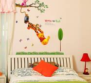 """Интерьерная вінілова наклейка на стіну для дітей """"Винни Пухнув"""""""