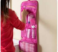 Дорожній органайзер для речей для ванни підвісний рожевий