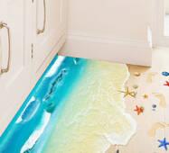 "Интерьерная вінілова 3d наклейка на підлогу ""Пляж"""