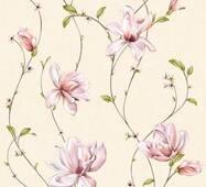 Шпалери паперові Континент Мару бежевий фон світлі квіти 1289