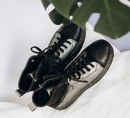 Демисезонные утеплённые кожаные ботинки 38 (2001)