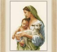 "PN-0145367 Набор для вышивки крестом Vervaco Mary and Jesus ""В безопасности"", Код товара: 1062135"