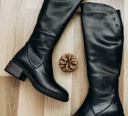Женские зимние кожаные сапоги 36 (6335)