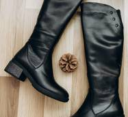 Женские зимние кожаные сапоги 40 (6335)