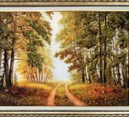"Картина из янтаря ""Лесная тропинка"" 30х40 см"