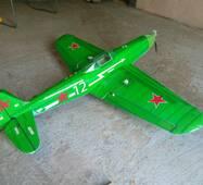 Набір деталей радіокерованої моделі-напівкопії літака Як-3