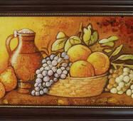 """Картина из янтаря """"Натюрморт на кухне"""""""