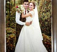 Свадебный портрет из янтаря