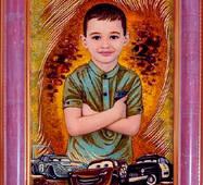 Эксклюзивный портрет из янтаря