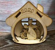 Новорічні дерев'яні заготівлі символ року