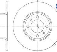 Диск тормозной передний ВАЗ 2101-2107, ROADHOUSE