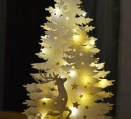 Декор світильник новорічний