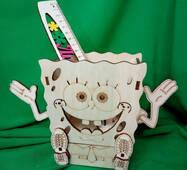 Карандашница Спанч Боб из дерева