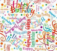 """Пакувальний папір  для подарунків  """" Happy Birthday """", 5 шт/уп"""