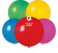 """Шар сюрприз пастель асорті 31"""" (80 см).  Кульки повітряні гіганти Gemar"""