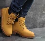 Мужские зимние ботинки горчичные Timberland 6820