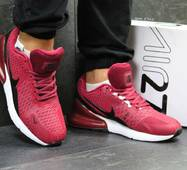 Кроссовки мужские бордовые Nike Air Max 270 5745
