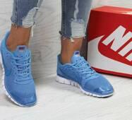Кроссовки женские голубые Nike Free ran 3.0 5430