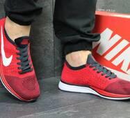 Кроссовки мужские красные Nike Flyknit Racer 5350