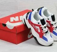 Кроссовки женские бело-синие с красным Nike М2K 6210