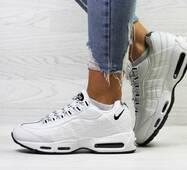 Женские кроссовки на зиму белые Nike 95 6740