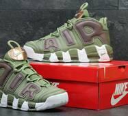 Кроссовки мужские зеленые Nike Air More Uptempo 96 5694