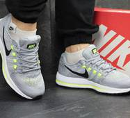 Кроссовки мужские серые с салатовым Nike Air Zoom Vomero 12 4834
